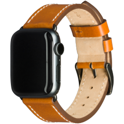 Copenhagen - Watch Strap 38 & 40mm - Tan/Space Grey