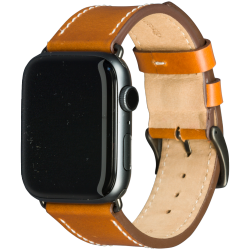 Copenhagen - Watch Strap 42 & 44mm - Tan/Space Grey